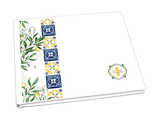 Guestbook matrimonio - libro dediche e auguri invitati personalizzato sicilia limoni acquerello