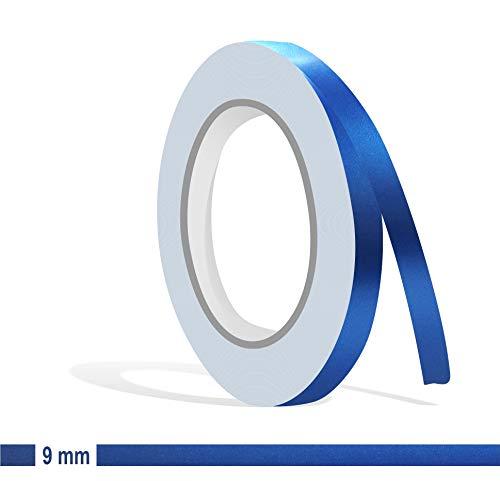 Siviwonder Zierstreifen blau metallic matt in 9 mm Breite und 10 m Länge für Auto Boot Jetski Modellbau Klebeband Aufkleber Folie Dekorstreifen