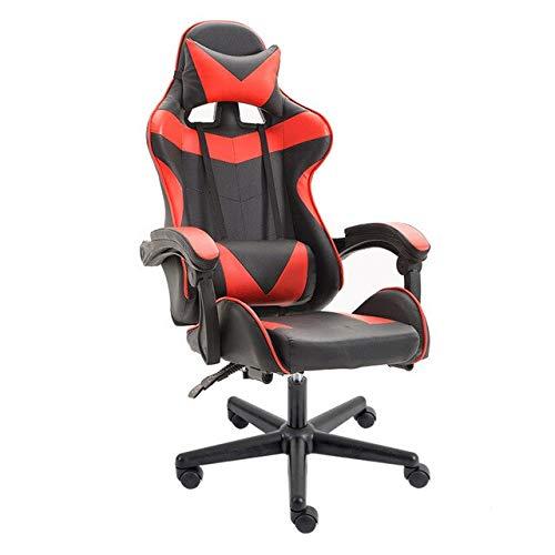 Gaming Stuhl Computer Spielstuhl, Racing Synthetic Leather Gaming Chair Verstellbare Internetcafés Computerstuhl Bequemer Liegender HaushaltsstuhlEinfach