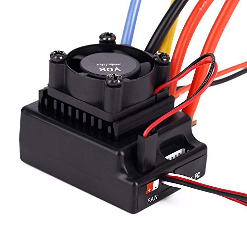 Dilwe RC-Drehzahlregler, hochwertige Brushless-Regler 80A Sensored und Sensorless einstellbar für RC Car Truck Toys