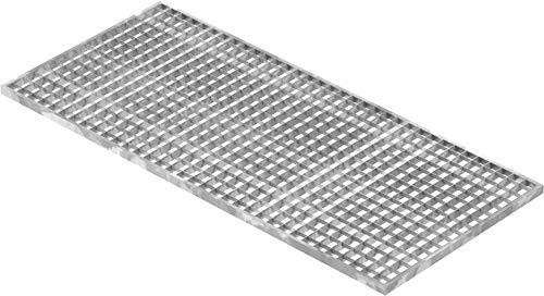 Fenau | Gitterrost/Baunorm-Rost Maße: 490 x 1090 x 20 mm - MW: 30 mm / 30 mm (Vollbad-Feuerverzinkt) (Passend für Zarge: Fenau 500 x 1100 x 23 mm) Industrie-Norm-Rost für Lichtschacht