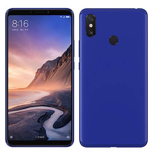 TBOC® Funda de Gel TPU Azul para Xiaomi Mi MAX 3 (6.9 Pulgadas) de Silicona Ultrafina y Flexible [No es Compatible con el [Xiaomi Mi MAX]