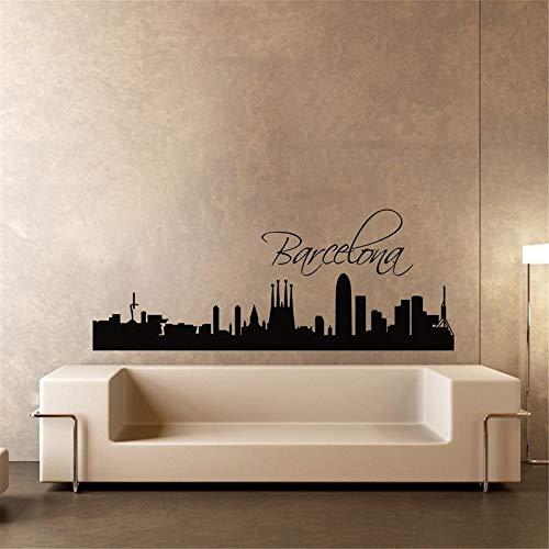 pegatinas de pared star wars pegatinas de pared disney Única calcomanía mural de la ciudad de Barcelona para sala de estar
