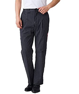 WAIWAIZUI Men's Baggy Chef Pant Work Pants Black