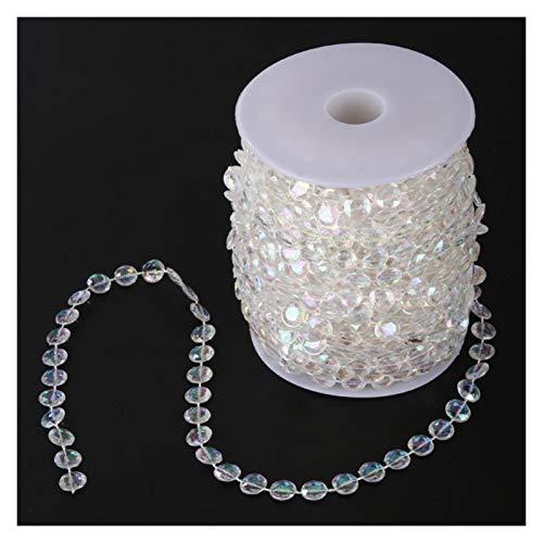 DUNRU Cortinas De Borla 99FT 30M Acrílico Diamond Bead Cortina DIY GARANDA GARANDO Fiesta de Boda Decoración de Cristal Accesorios de Boda para el hogar Ornamentos de Cortina Cortinas De Perlas