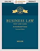MindTap Business Law, 1 term (6 months) Printed Access Card for Miller's Business Law: Text & Cases - An Accelerated Cours...