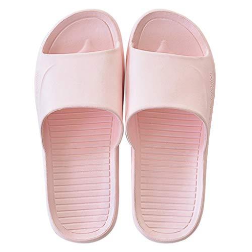 Xu Yuan Jia-Shop Zapatillas para Ducha Zapatillas de baño Hombres y Mujeres Hogar de Verano Sandalias con Fondo Suave Zapatillas Ducha Zapatos Antideslizantes 5 Colores Zapatillas de Playa y Piscina