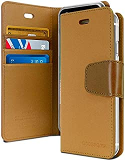 غطاء حافظة حماية ومحفظة لجهاز آيفون 11 برو ماكس من الجلد مع جيوب داخلية وقاعدة تثبيت، بني فاتح