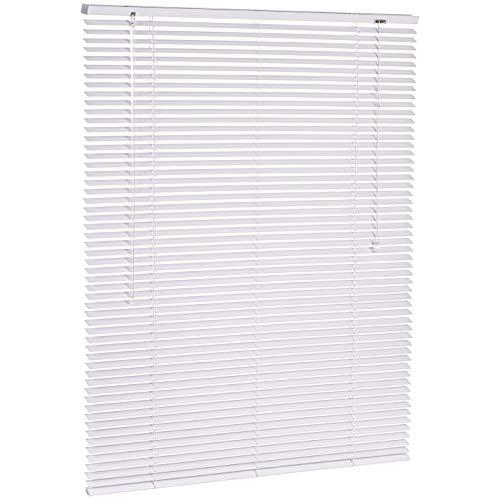 AmazonBasics - Jalousie, Aluminium, 100 x 130 cm, Weiß