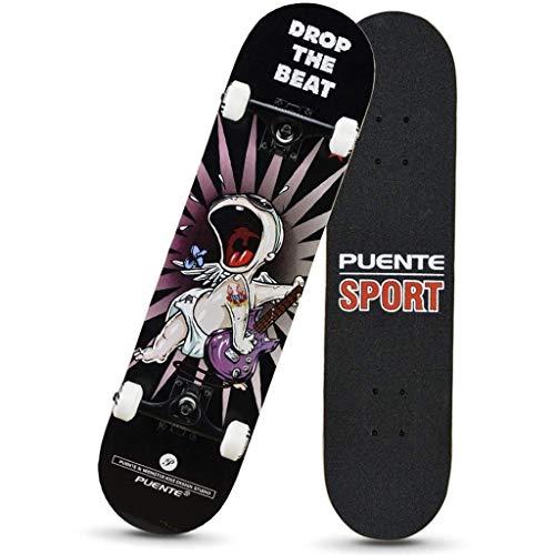 Tablero de Patines Baratos, (318) Patinaje para niños Skateboard Junior con Amortiguador nyfcck (Color : A)