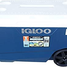 Igloo Cooler with Wheels - Latitude 90 Quarts - Fits up to 137 Cans - Up to 5 Day Ice Retention