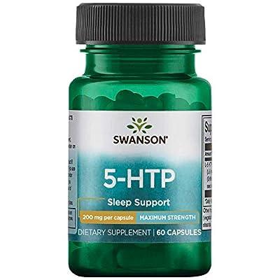 Swanson Amino Acid Maximum Strength 5-Htp 200 Milligrams 60 Veg Capsules