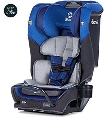 Diono Radian 3QX Latch, All-in-One Convertible Car Seat, Blue Sky