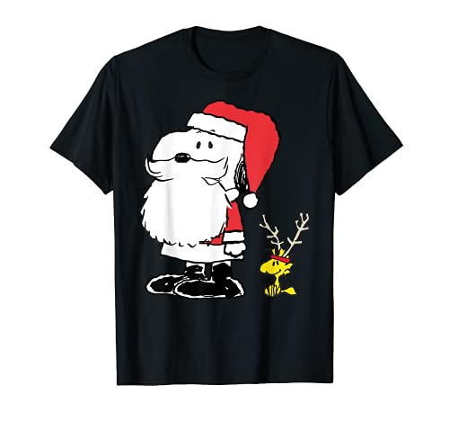 Peanuts Holiday Snoopy Clause and Woodsrock Antlers T-shirt, Adults, Youth