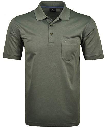 RAGMAN Herren RAGMAN Kurzarm Softknit Poloshirt 4XL, Tuerkis/gruen-341