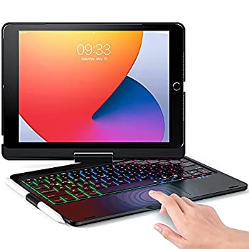 Keyboard Case Compatible with iPad 10.2  8th/7th Generation  & iPad Pro 10.5 inch & iPad Air 3rd Gen - Wireless Backlight Keyboard with TouchPad for iPad 10.2/10.5