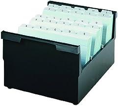 HAN 856-0-13 - Cajón para tarjetas, capacidad para 1000 tarjetas, A6 horizontal, 165 x 117 x 325 mm, color negro