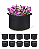 ACSTEP Grow Bags 10 Pack 10 Gallon Heavy Duty Aeration Fabric Pots Thickened...