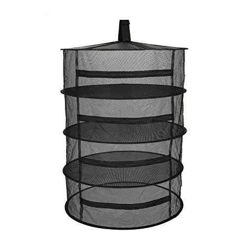 SXXYXH Plantendrogernet, kruidenrek, hangende hydrocultuur waxen tent afneembaar met draagtas, droogknop, ophanggesp en opbergzak, 4-laags