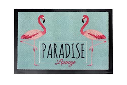 Carpido Lisa-Design Flamingo Fußmatte - Sauberlauf - Schmutzfangmatte - Vogel - 40 x 60 cm