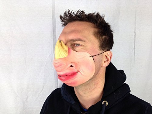 Funny demi-masque en Latex de tête de rhinocéros Fetish Fantasy Déguisement de cerf Doré