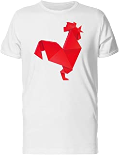 Geometric 3D Origami Red Rooster Tee Men's -Image by Shutterstock
