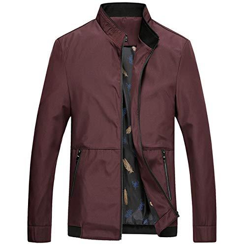 Loeay Chaqueta Casual para Hombre Ligero Summer Business Classic Windbreaker Varsity Coat Primavera Otoño Mens Loose Red Bomber Overcoat