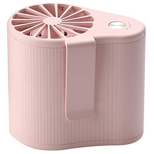VentilatoreUSB Mini Ventilatore A Sospensione di Dimensioni Ridotte Super Potente Aria Condizionata Portatile Vestito Aria Condizionata Batteria Ricaricabile A 3 velocità Rosa