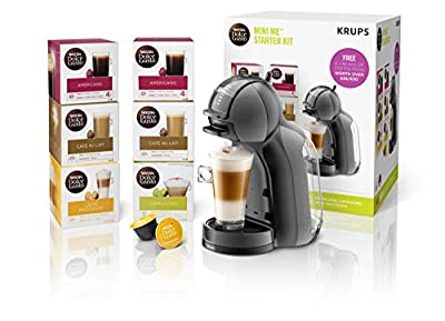 Nescafé Dolce Gusto Mini Me Coffee Machine Bundle, 1500 W, Black and Grey