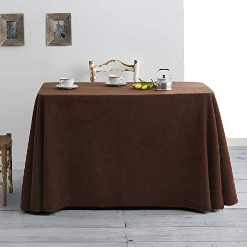 Lanovenanube - Falda Mesa Camilla Invierno Rectangular 80x120 - Marron