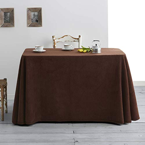 Lanovenanube - Falda Mesa Camilla Invierno Rectangular 70x110 - Marron