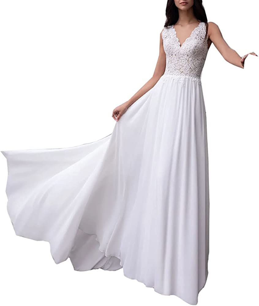SIQINZHENG A Line Sweetheart White Wedding Dress Long Lace Up Bridal Gowns