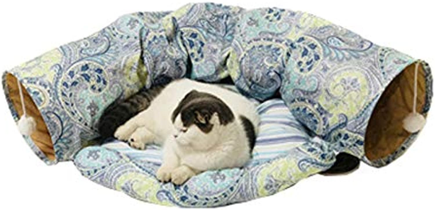 Pet Cat Tunnel Toy Funny Foldable Pet Tub Tunnel Soft Cat Kitten Beds House