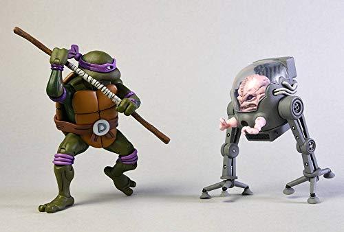Donatello V Krang In Bubble Walker (Teenage Mutant Ninja Turtles Cartoon) Neca Action Figure 2-Pack