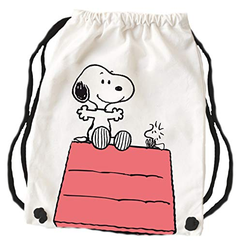 Peanuts Snoopy Collection – Stoffrucksack Hütte 43,5 x 45 cm Turnbeutel Jutebeutel