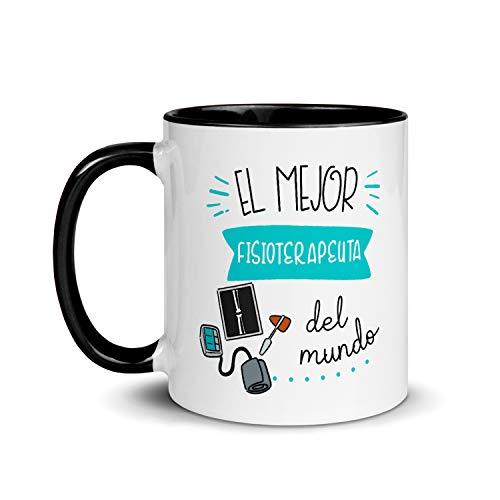 Kembilove Taza de Desayuno del Mejor Fisioterapeuta del Mundo – Tazas de Café de Profesiones y Trabajadores para la Oficina – Tazas de Té para Profesionales – Taza de Cerámica de 350 Ml