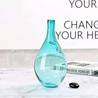 シンプルでスタイリッシュな1ピース多色バブルガラス花瓶手作りクリエイティブ工芸品ボトル装飾寝室テーブル花瓶シンプルな家の装飾-H 26センチ, lsxysp