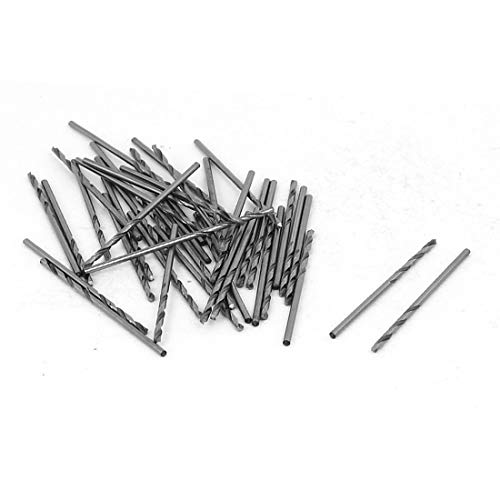 New Lon0167 38mm Long Featured 1.3mm Cutting Diameter reliable efficacy Straight drill hole Twist Drill Bit Silver Tone 40pcs(id:d84 74 70 3a9)