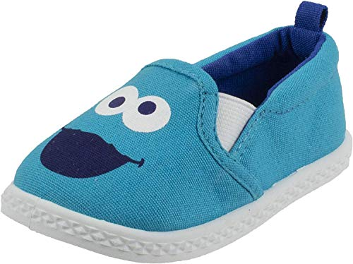 Sesame Street Cookie Monster Prewalker Infant Baby Shoe, Slip on, Blue, Size 4
