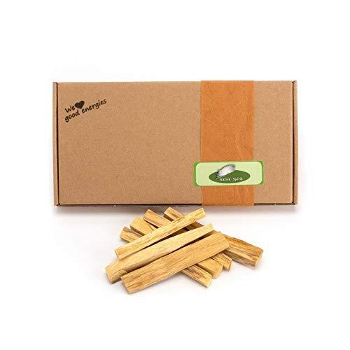 Paquete a granel de palo santo, madera sagrada, 100g (unas 18 y 21 barras, 9 de 10 x 1 x 1cm, de 5-6g por barra), recogida de forma sostenible directamente por nativos en Sudamérica, de Native Spirit®