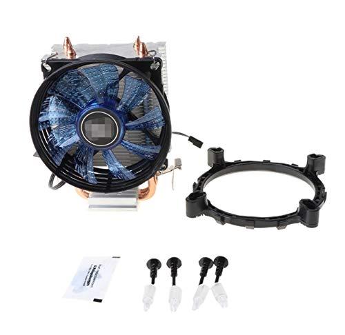 PUGONGYING Popular 2 TAPICIMIENTO DE Aluminio DE Aluminio DE Aluminio PC CPU Fan Ajuste para Intel 775/1155/1151 AMD 754 / AM2 Detención Durable
