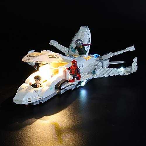 LIGHTAILING Conjunto de Luces (Super Heroes Jet Stark y el Ataque del Dron) Modelo de Construcción de Bloques - Kit de luz LED Compatible con Lego 76130 (NO Incluido en el Modelo)