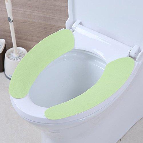 Ruimin abattant WC doux et chaud épais en peluche Siège de toilette Coussin Pad Tapis lavable extensible Abattant de WC Warmer
