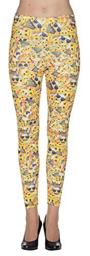 Rubie's Emoji Leggings gelb Größe L Damen Karneval Fasching