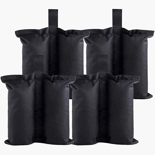 Livole Paquete de 4 pesas para cenador, cenador y pesos, bolsas de arena resistentes para cenador, bolsas de arena, bolsas de peso de arena para cenadores de jardín, carpa y sombrilla con pesos