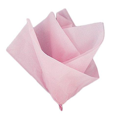 Unique Party-Paquete de 10 hojas de papel de seda, color rosa claro, (6288)