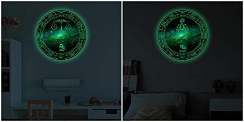 Leuchtende Wandaufkleber-Fluorescent Art Home Decoration Aufkleber-Waage und Skorpion Kombination Aufkleber