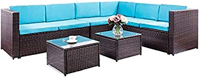 Amazon.com : Great Deal Furniture Keith Outdoor Sectional ...