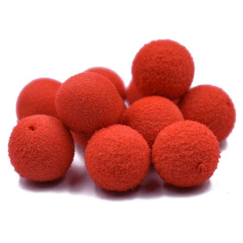 Phecda Sport 30pcs 12mm Smell Carp Fishing Bait Boilies Eggs / 4 Flavors Floating Ball Beads Feeder Artificial Carp Baits Lure/Hair Rig (Red Strawberry(12mm))