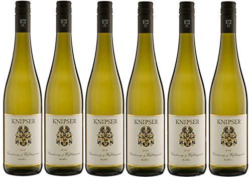 6er Paket Knipser Chardonnay & Weißburgunder 2019 Pfalz, deutscher Weißwein (6 x 0,75 l)